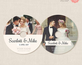 Wedding dvd labels, dvd label template, cd labels, wedding cd label template, photoshop template, photographer, packaging, photography, case