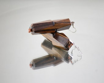 Teak Wood teak wood earrings-Earrings/Handmade/handmade