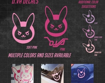 D.Va Bunny Vinyl Decal -  Multiple sizes and over 60 colors to choose from