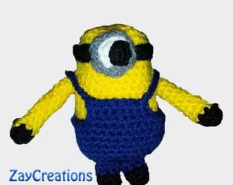 Minions crochet handmade Cardboard-despicable Me