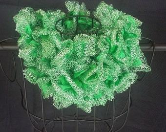 Crocheted Ruffle Scarf - JB86