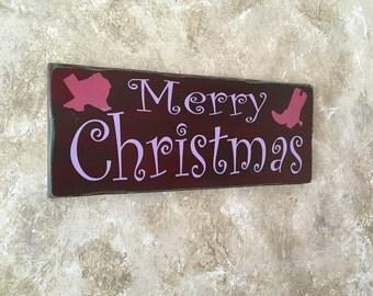 Pink Purple Christmas Sign