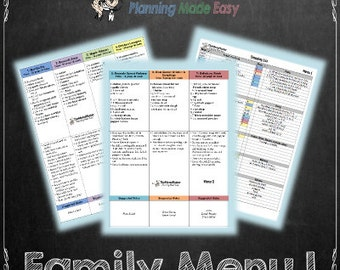 Slow Cooker Meal Plan 1, Menu Plan with Grocery Shopping List, TheMenuMaster Planning Made Easy.