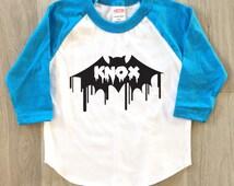 Customizable Bat Halloween tshirt - baby boy or girl clothes toddler shirt - Halloween shirt