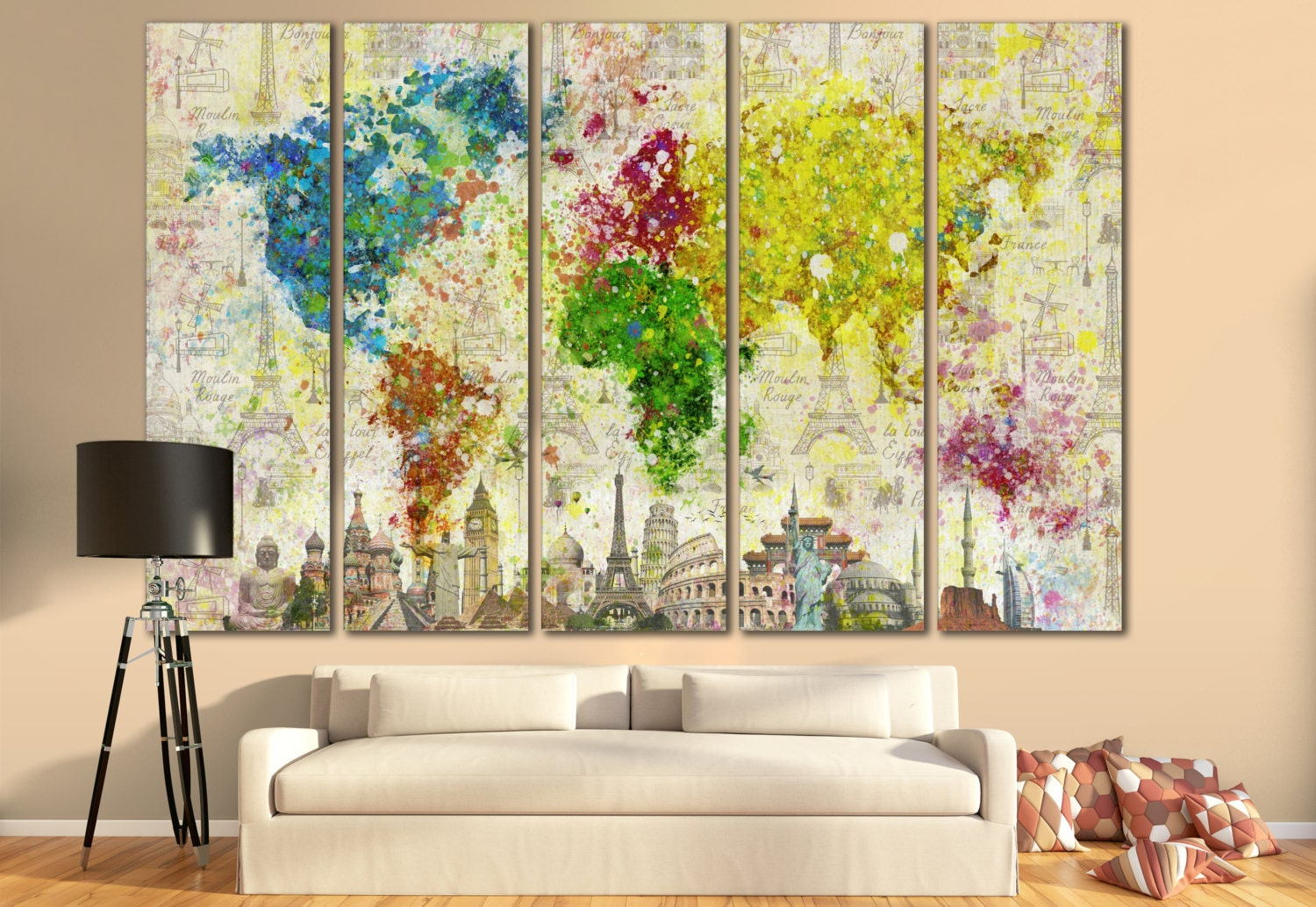 Large Paintings For Living Room Extra Large Wall Art Etsy