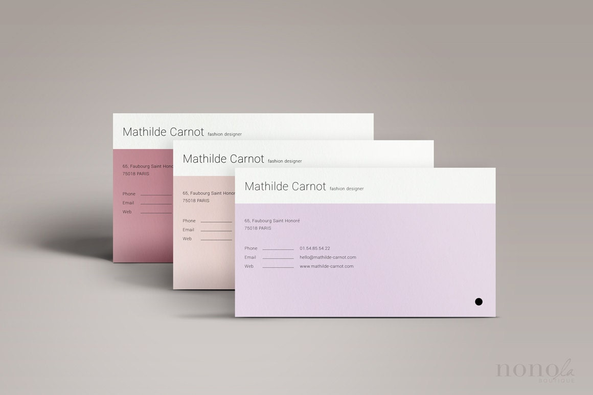 Simple business card template 3pk minimal business card zoom magicingreecefo Choice Image