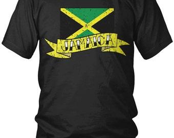Jamaica Men's Classic Flag Tee 2.0 rqYUtPa