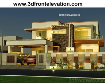 1 Kanal House Plan Contemporary Design Bahria Town-Australian-Pakistan