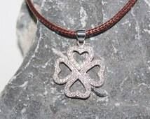 four-leaf clover necklace, four-leaf clover