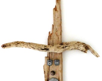 Novelty Driftwood Wall Hanging - Novelty Gift - Woodworking - Handmade - Gift Ideas - - Reclaimed - Upcycled - eco friendly - Garden Decor