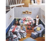 Uncut McCall's 8825, 90s Sewing Pattern, Doll Furniture and Diorama for 11 Half Inch Dolls, Dining Table, Sofa, Chairs, Ottoman Round Pillow