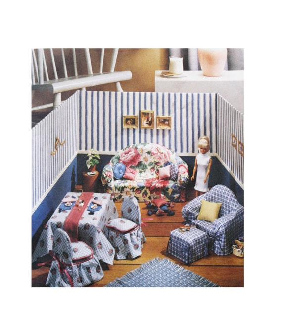 uncut mccall 39 s 8825 90s sewing pattern doll furniture