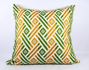 Geometric pillow cover 18x18 pillow cover 12x16 pillow cover 20x20 inch pillow cover 22x22 yellow green multi color throw pillow cover 26x26