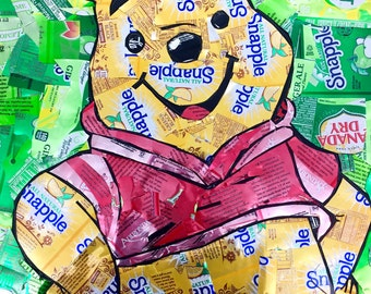 Recycled Soda Can Winnie The Pooh Wall Hanging