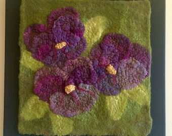 Pansy, #2: A Nuno Felted flower
