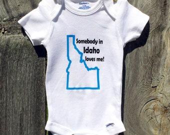 Somebody In Idaho Loves Me Kids Shirt,  Idaho Childrens shirt, Idaho pride shirt kids, kids Idaho shirt, boys Idaho shirt
