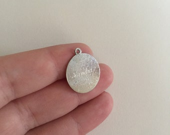 Vintage 1962 Estate Sandra 925 Sterling Silver Birth Charm