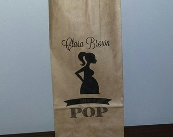 20 CUSTOM PERSONALIZED Baby Shower Ready to Pop Party Favor Bags