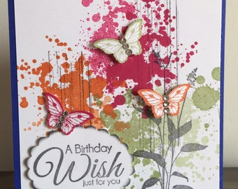 C44 Birthday card, handmade card