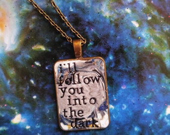 Death Cab for Cutie I Will Follow You Into the Dark Pendant Necklace