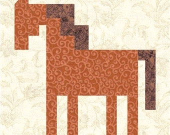 Patch Pony quilt block pattern