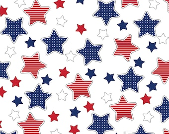 Blue & Red Stars 4th of July Backdrop (HD4-ER-001)