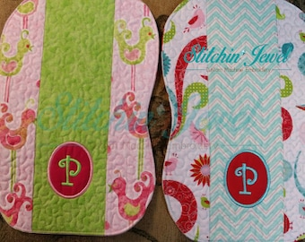 Embroidered Burp Cloths | Monogrammed Burp Cloths | Baby Gifts | Shower Gifts