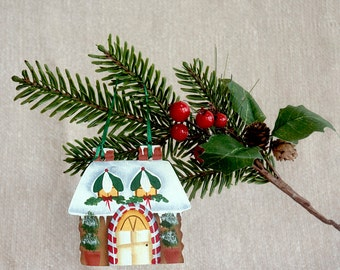 Gingerbread House Hand Painted Ornament