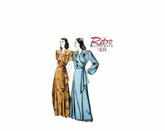 2000 Sewing Pattern - Butterick 5152 - Retro Gown Robe