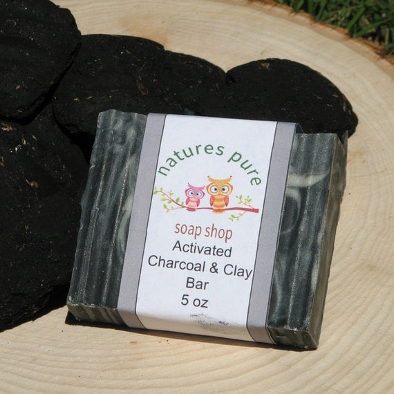 Homemade Activated Charcoal And Clay Soap For Oily Skin