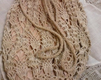 "Vintage ""Victorian"" crocheted purse/satchel"