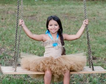Pocahontas tutu dress - Pocahontas costume - Indian tutu costume - tutu dress - princess costume - native american - dress up - princess