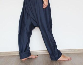 Loose linen pants/ Drop crotch pants/ Wide linen / Women pants/ Yoga pants/ Casual Pants/ Linen trousers