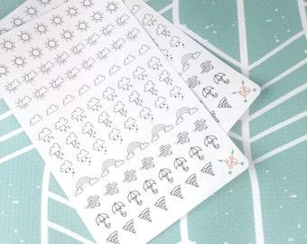 Mini Weather Icon Planner Stickers