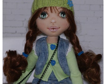 Sweet interior doll. Textile doll. Handmade doll. Interior doll.