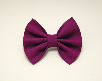 """Berry Berry 3"""" fabric bow"""