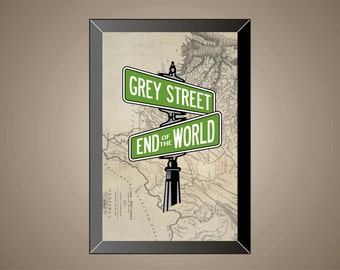 DAVE MATTHEWS BAND Inspired Poster Print | 11x17 | Grey Street | Wall Art | Home Decor