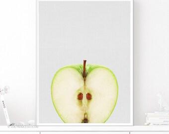 Apple Print, Apple Wall Art, Fruit Print, Fruit Wall Art, Fruit Art, Food Wall Art, Food Print, Photography Art, Printable Art, Kitchen Art
