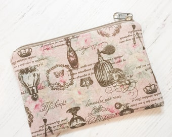 Paris Perfume Simple Zippered Pouch
