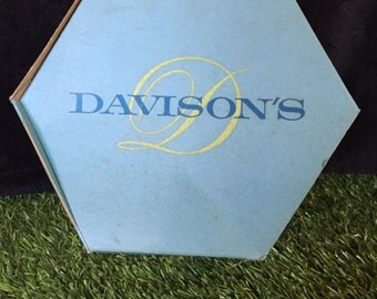 Davisons Department Store Hexagon Aqua Hat Box