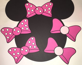 Pin the Bow on Minnie Mouse ~Minnie Mouse Bows~Polka Dot Bows~ Minnie Mouse Bow Die-Cuts