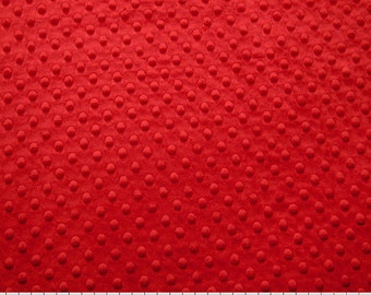 Scarlet Cuddle Dimple Dot Minky by Shannon Fabrics - 1 yard