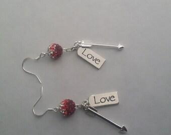 Love arrow earrings