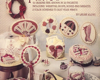 Victorian Fancy Book 2 by Laura Kluvo - No Sewing - 14 Designs 33 Projects inc Wreaths Hoops Boxes Baskets