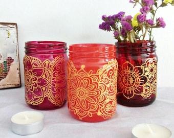 Bohemian lantern, patio, garden decor, outdoor lighting, boho gift for her, table decor,boho jar lantern