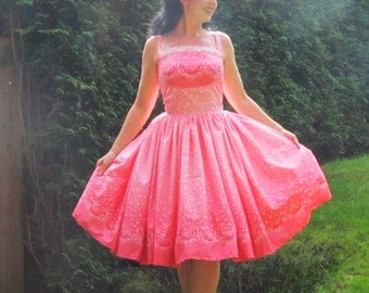 Pinup dress 'Pink Champagne' 3 COLORS AVAILABLE, gorgeous pinup dress, lolita dress, with bubbles andd ribbons, border dress