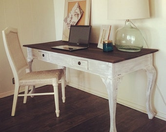 White Washed Writing Table