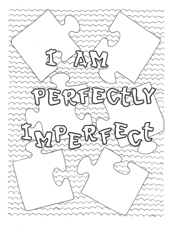 I Am Perfectly Imperfect Coloring Page