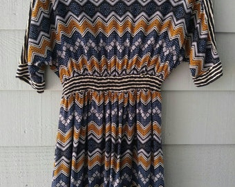 Vintage Darling Zig Zag Dress