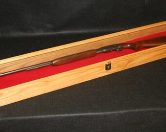 Oak Rifle Display Case